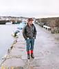 Greame of North Berwick (Adam Pietraszewski) Tags: people portrait street fashion candid scotland edinburgh north berwick coast pier boats blur bokehrama brenizer panorama