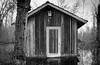 cabin in the forest (matwolf) Tags: monochrome mono monochrom noiretblanc noirblanc blancetnoir blancoynegro schwarzweis blackandwhite blackwhite fine outdoors outdoor silence cabin woods water