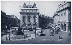 London - Piccadilly Circus and Regent Street (pepandtim) Tags: postcard old early nostalgia nostalgic london piccadilly circus regent street paddington 28041954 1954 arthur parry towers woodland road colwyn bay north wales dry cold evenings bank soccer match train club coughing cup final wembley stadium west bromwich albion preston end season wolverhampton wanderers ray barlow secretary state john foster dulles communist china combat troops indo viet minh guerrillas
