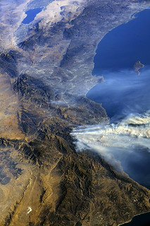 View of Southern California Wildfires From the Space Station