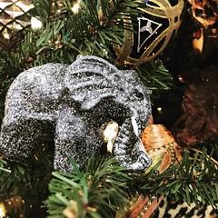Elephant Ornament (booboo_babies) Tags: elephant christmas jungle wildanimal christmastree holiday ornament lubbock 2017 gunsnroses