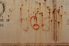 CAT IN HAT (1996) (TheGraffitiHunters) Tags: graffiti graff moniker streak markal freight train tracks benching benched cat hat 1996 96