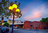 Sunset in Calistoga, California (` Toshio ') Tags: toshio california calistoga napavalley napa sunset town clouds lamppost fujixe2 xe2 building architecture road car northerncalifornia wine