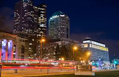 Downtown (brutus61534) Tags: columbus ohio city hall supreme court night long exposure light trail