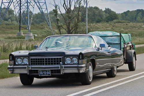 Cadillac Eldorado Convertible 1973 with trailer (2153)