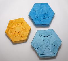 Tessellation boxes (mganans) Tags: tessellation origami box