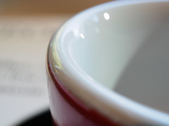 ACF - Shot Cup (Ben Nakagawa) Tags: acf coffeebreak stilllife ceramic circle closeup coffeecup curve everydayobjects red white