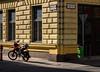 Green Bin (RWYoung Images) Tags: rwyoung olympus em5 nostalgia budapest bin bike street corner urban