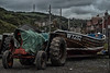 The work horse and carriage at Skinningrove (Andy Nelly Nelson) Tags: skinningrove eastcoast yorkshire tractor boat fishingvillage