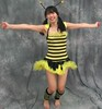 HapBee New Year! (emotiroi auranaut) Tags: girl cute pretty lovely adorable happynewyear celebrate celebration happy happiness smile smiling costume cosplay stripes legs feet barefoot yellow black asia asian japan japanese