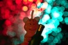 Happy New Year (LuziferFA) Tags: happy new year silvester sylvester party schwen pig glück luck lucky bokeh color colors colorfull light lights special macromondays redux champaign champagner kerze candle smile fun 2017 blue red rot blau