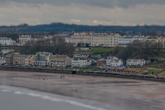 From a Distance (Andrew_Leggett) Tags: filey town seaside coast winter tiltshift landscape view newyear walk walks walking walkers