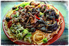 """""""Somehting To Stick To The Ribs, When Outside It's ONLY 20 Below Zero..."""" ;) (Alexxir) Tags: food seafood spaghetti grilledmushrooms eggplants broccoli tomatosauce parmesan olives plate hotfood italianfood squid octopus newyork photography foophotography"""