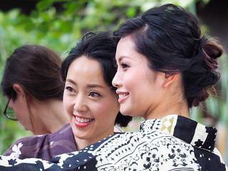 Beautiful ladies in Kyoto....