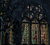 gothic christmas (pbo31) Tags: bayarea california nikon d810 color black dark night december 2017 boury pbo31 panorama large stitched panoramic eastbay alamedacounty oakland mountainview cemetery piedmont death funeral service grounds mausoleum burial buried bury resting place church holidays christmas lights season tree silhouette ornament window gothic architecture