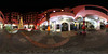 Weihnachtsdekoration  in der Grünen Zitadelle (360 x 180) (diwan) Tags: germany deutschland sachsenanhalt saxonyanhalt magdeburg city stadt place architecture greencitadel grünezitadelle hundertwasserhaus innenhof fenster windows hundertwasser friedensreichhundertwasser kopfsteinpflaster cobblestones menschenleer nacht night light ilumination projektion nachtaufnahme nightphotography langzeitbelichtung longexposures december decoration weihnachten christmas 1weihnachtsfeiertag christmasday roundabout equirectangular spivpano 360° panoramix panorama stitch ptgui fotogruppe fotogruppemagdeburg fisheye canonef15mmf28fisheye canoneos5dmarkiv canon eos 2017 geotagged geo:lon=11634296 geo:lat=52126929