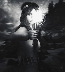 408.p182 | You can't rush something you want to last forever... (trendyandcoffee) Tags: secondlife sl events fashion blogger art artist monocrome monochrome blackandwhite sparkler hair uber k9 kustom9 emery nature beach christmas birthday newyear 2018 girl photoshop photograph