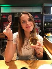 Goodbye2017... (BphotoR) Tags: goodbye2017 bphotor beauty sushi portrait beautiful finger smile goodbye glass wine woman lady lips eyes