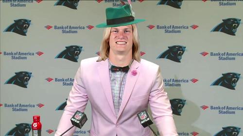 For Halloween, Carolina Panthers receiver Brenton Bersin is going as Cam Newton.