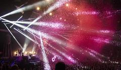The Killers (l3n2k1) Tags: the killers concert dark arena lights wonderful tour bait ball confetti toronto pink thekillers