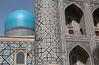 Registan Detail (peterkelly) Tags: uzbekistan samarkand oldcity registan tillakarimadrasamosque samarqand mosque dome blue arch archway