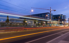 Progress? (Dancing.With.Wolves) Tags: berlin central station transit bus buses train alley long exposure time progress build infrastructure architecture city life tourist europe germany travel 2017 summer sunset cars hotel