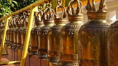 The sound of wisdom. (J316) Tags: j316 bells copper brass buddhism a77 thailand temples confusion noise peace wisdom gold color