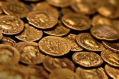 Corbridge Hoard (andycurrey2) Tags: england museum shinymetals smileonsaturday gold treasure coins roman ancient canon digital indoor macrodreams