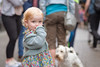 Little Girl and Puppy (Hattifnattar) Tags: girl puppy dog bokeh galway ireland street pentax fa77mm limited