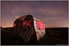 Ruined caravan (seb a.k.a. panq) Tags: night noctography lp lightpainting sebastianbakajphotography redled abandoned caravan stars