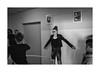 Playing in the corridor (Jan Dobrovsky) Tags: portrait document leicaq psychiatricclinic monochrome child people human blackandwhite corridor humanity social play indoor