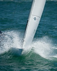 Etchell racing on Sydney Harbour (rinse cycler) Tags: sailing yachtracing seaspray splash etchell