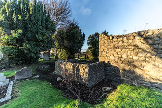 ANCIENT CHURCH AND GRAVEYARD AT TULLY [LAUGHANSTOWN LANE NEAR THE LUAS TRAM STOP]-134601