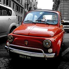 Fiat 500, Roma (pom'.) Tags: panasonicdmctz30 february 2017 rome roma lazio italia italy europeanunion car vintagecar fiat fiat500 cinquecento 200 100 orange 300 5000