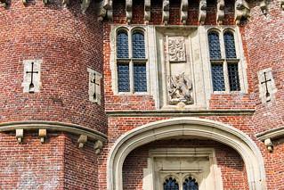 Herstmonceux Castle gateway detail
