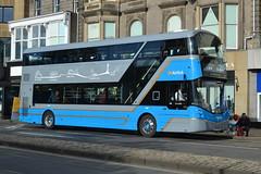 Lothian Buses Volvo B5TL 500 SF17VOU - Edinburgh (dwb transport photos) Tags: lothianbuses volvo wright eclipse gemini bus decker 500 sf17vou airlink edinburgh