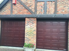 S Panel Hormann Rosewood decograin sectional garage doors in Eastbourne