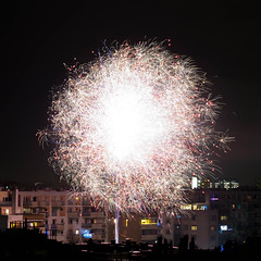 New Year 2018 (Łukasz Serwach) Tags: firework fireworks minolta rokkor rokkorpg5812 58f12 bokehking xe1 fujifilm fuji vintageglass vintagelens alternativelenses fujix manual newyear night cityscape nightshoot longexposure