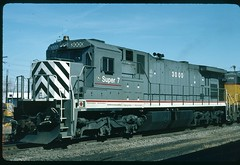 GE 3000 Super 7 demonstrator (C30-S7) at Kansas City, Missouri 03 October 1991 (redfusee) Tags: gecx