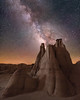 Eruption (Wayne Pinkston) Tags: night sky nightsky badlands newmexico newmexicobadlands wilderness desert hoodoo lowlevellighting nightphotography nightlandscapes nightscape waynepinkston waynepinkstonphotoxcom lightcrafter lightcraftercom star stars starrynight milkyway galaxy cosmos theheavens dramaticsky astrophotography landscapeastrophotography widefieldastrophotography nikon