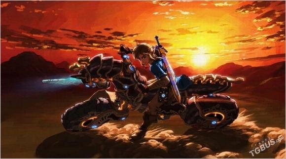 《塞爾達傳說:曠野之息》摩托原自《馬車8》