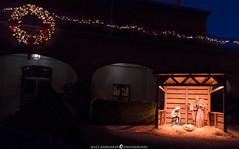 Waiting for a Child (MTD Photos) Tags: christmas christmaslights newmexico oldtown church lights mattdomonkos nativity night stilllife