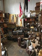 Antique (ToBoote) Tags: junk antique luggage flag american vinyl saw floor boards fireextinguisher ladder box antler tools starsandstripes shears