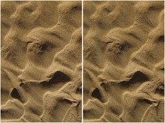 Sand Shapes (turbguy - pro) Tags: 3d crosseye stereo