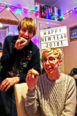 Time for a mince pie! (Jainbow) Tags: boys sons matt jonathan jj christmas lights christmaslights home jainbow lomo lomoeffect