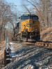 CSX.EastAvalonMD010618.9062s (jrm_rr) Tags: csx coal train eastavalon avalon es44ac patapsco patapscovalleystatepark siding es44ah shadows noseshot maryland md freight coaltrain snow gunroad