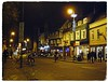 Cambridge, Bridge Street  DSCF2673 (Davey's Shots) Tags: cambridge streetlighting cyclists nighttime festivelights streetlamps nightlife