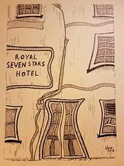 The Royal seven stars hotel Totnes. (jeffhill6) Tags: totnes artwork penandink royalsevenstarshotel abstractart art drawing linedrawing
