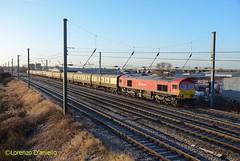 59201 Sandy 9th December 2017 (Lorenzo's Modern Traction) Tags: 59201 1z59 finsbury park tinsley sorting sidings sandy ecml