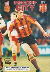 Bradford City vs West Bromwich Albion - 1989 - Cover Page (The Sky Strikers) Tags: bradford city wba west bromwich albion brom the valley parade littlewoods cup road to wembley official programme 80p